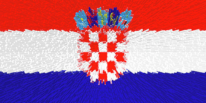 Extruded flag of Croatia by Grant Osborne