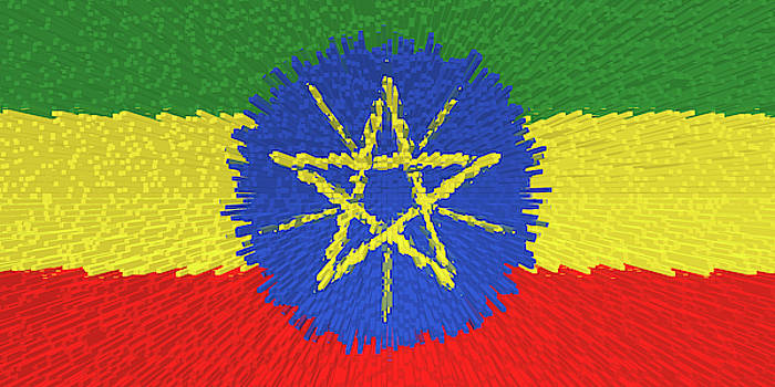 Extruded flag of Ethiopia by Grant Osborne