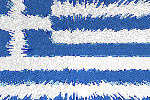 Extruded flag of Greece by Grant Osborne