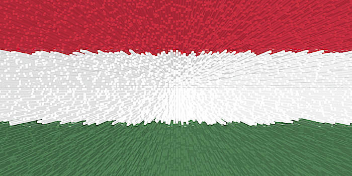 Extruded flag of Hungary by Grant Osborne