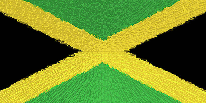 Extruded Flag of Jamaica by Grant Osborne