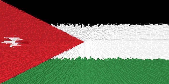Extruded flag of Jordan by Grant Osborne
