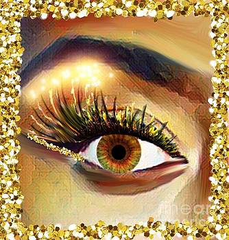 Eye Edged In Gold by Gayle Price Thomas