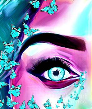 Eye With Butterflies  by Gayle Price Thomas