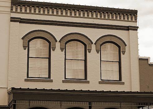 Eyebrow Windows in Bellville Texas Sepia  by Connie Fox