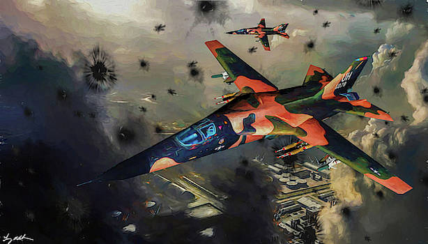 F-111 Strike over Vietnam - Oil by Tommy Anderson