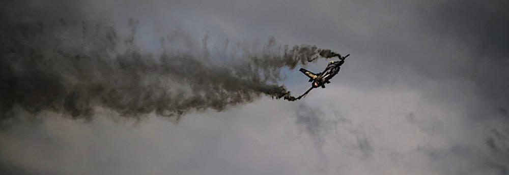 F-16C Fighting Falcon against dark skies by Scott Lyons