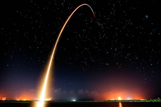 Falcon 9 Rocket Launch Outer Space Image by Bill Swartwout Fine Art Photography