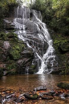 Fall Begins At Eastatoe Falls by Carol Montoya