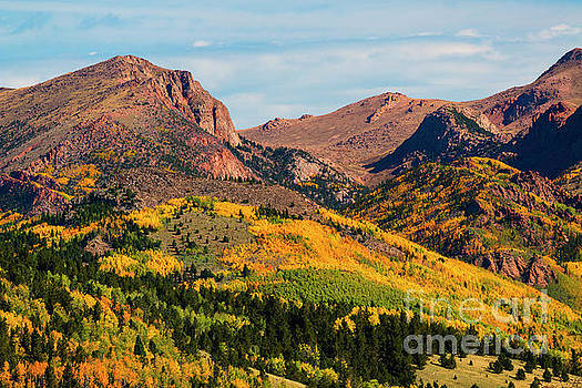 Steve Krull - Fall Colors on the North Face of Pikes Peak