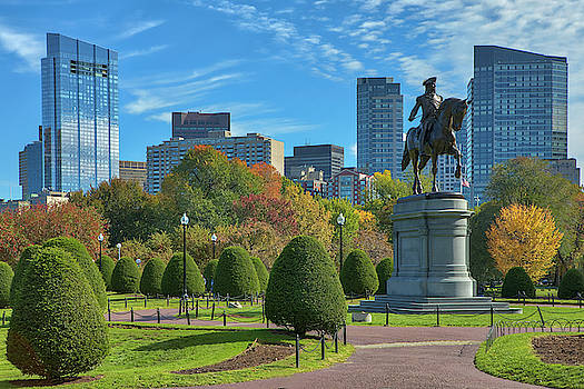 Fall Foliage Colors at the Boston Public Garden by Juergen Roth