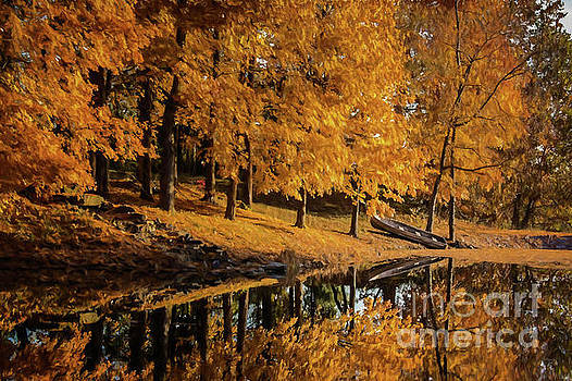 Fall on the Lake by Warrena J Barnerd