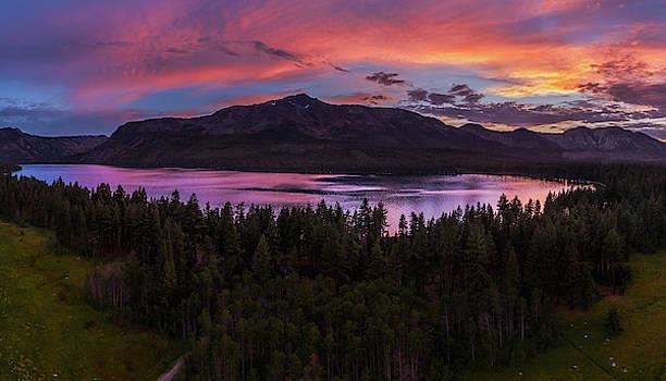 Fallen Leaf Fire Sky by Mike Breshears by Mike Breshears
