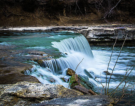Falls At Elk Falls by Steve Marler