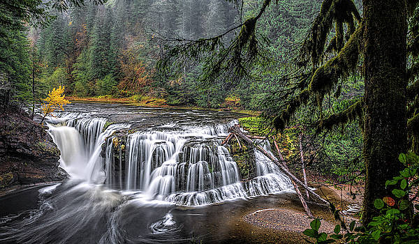 Falls on the Lewis River by Wes and Dotty Weber