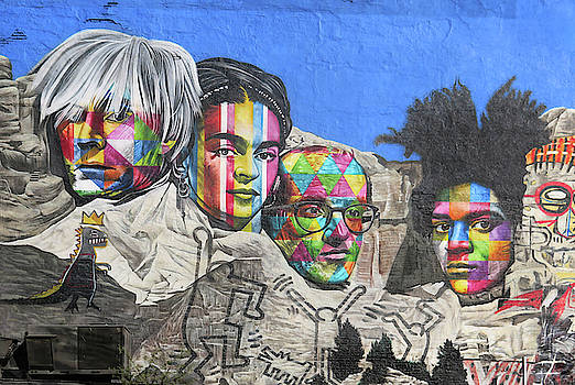 Famous Contemporary Artists Mural by Dave Mills
