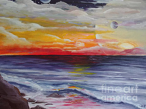 Far away sunset by Heather James