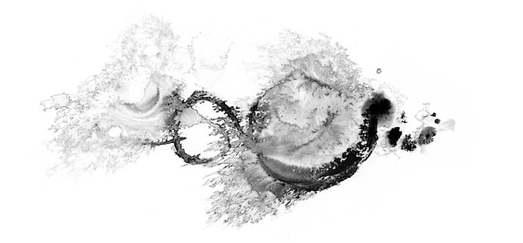 Far Far Away - Black And White Abstract by Modern Art Prints