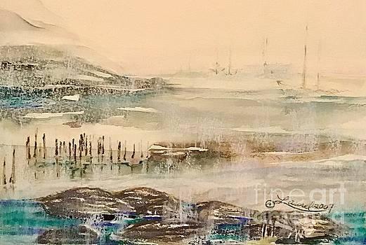 Faraway Sails at Rest by Laurel Adams
