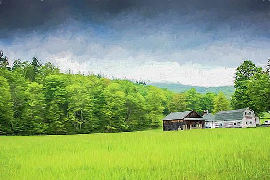 Farm and farm house by Alan Goldberg