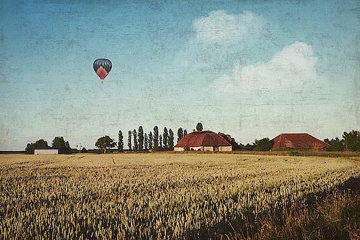 Farm and fields central France by Dirk Wuestenhagen