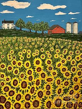 Farm Country Sunflowers by Jeffrey Koss