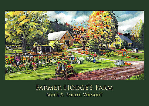 Farmer Hodges Farm Design with Title by Nancy Griswold