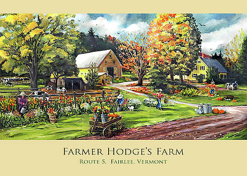 Farmer Hodge's Farm in Fairlee Vermont Card Mug Tote and Pillow Design by Nancy Griswold
