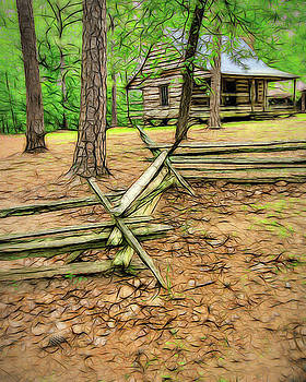 Farmhouse In The Woods by Robert Meyerson
