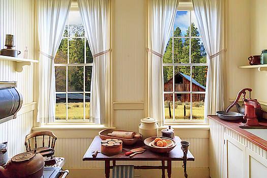 Farmhouse Kitchen View by James Eddy