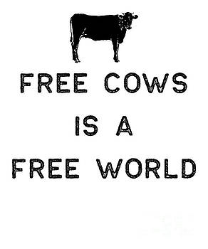 Farming Shirt Free Cows Free World Black Cute Gift Farm Country USA by J P