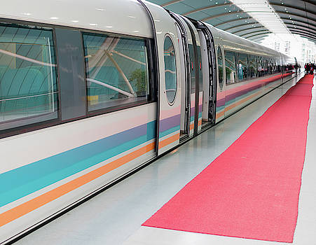 Shanghai Maglev Magnetic Train by Nick Mares