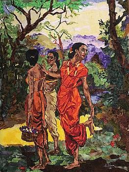 Fbric Impressions of the Masters-Raja Ravi Verma by Mihira Karra