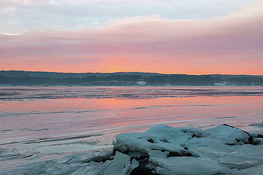 February Sunrise on the Hudson by Jeff Severson