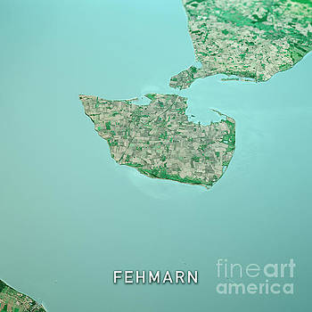 Frank Ramspott - Fehmarn Island 3D Render Topo Landscape View From North Sep 2019