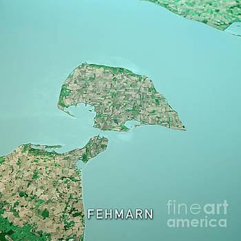 Frank Ramspott - Fehmarn Island 3D Render Topo Landscape View From South Sep 2019