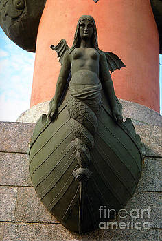 Female Angel with Wings detail of the Rostral Column Saint Peter by Wernher Krutein