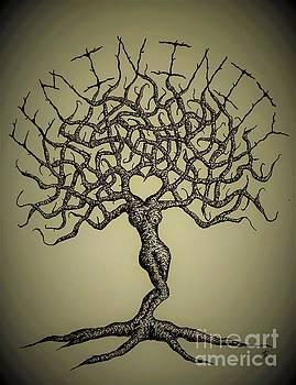 Femininity Love Tree b/w by Aaron Bombalicki