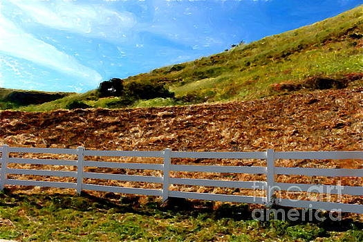 Fence and Hills by Katherine Erickson
