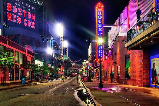 Fenway Park Lansdowne Street at Night by Joann Vitali