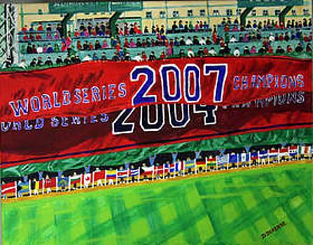 Fenway Park- Unfurling the Second Banner by Dominique Derenne