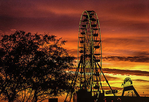 Ferris Wheel at Sunset by Fred Hood