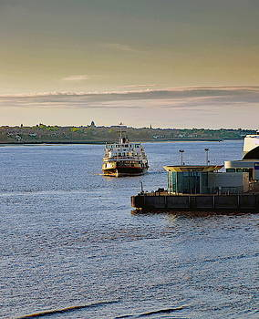 Ferry Across The River Mersey by Jeff Townsend