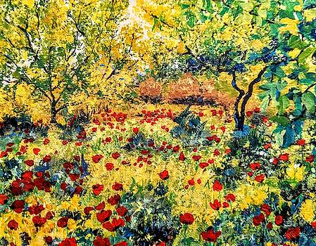 Field of Poppies by Ray Khalife