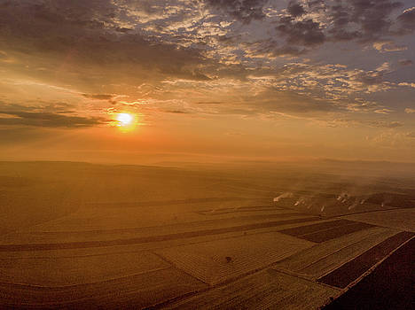Fields on the Sunset by Okan YILMAZ