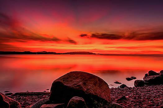Fiery Sunset by John Wilkinson