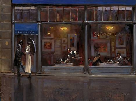 Fifth Avenue Cafe I Wall Art by Brent Lynch