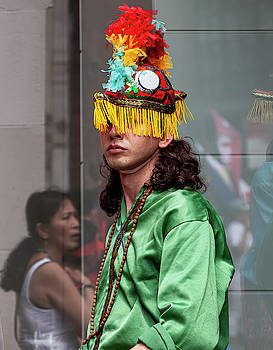 Filipino Day Parade NYC 2019 Man in Traditional Dress by Robert Ullmann