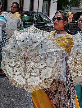 Filipino Day Parade NYC 2019 Women with Parasols by Robert Ullmann