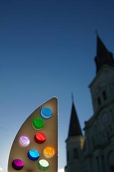 Fine Art America Tony Award And The St. Louis Cathedral In New Orleans by Michael Hoard